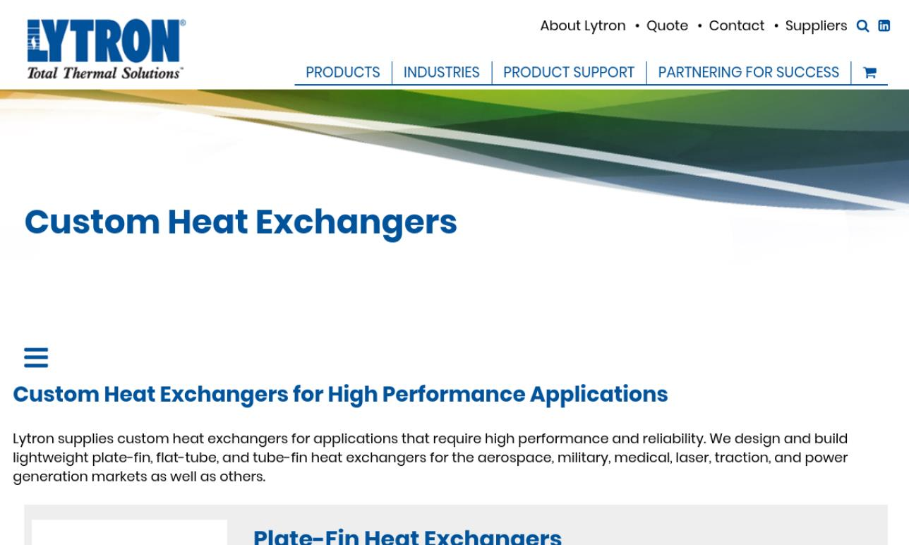 Lytron Inc. Heat Exchangers