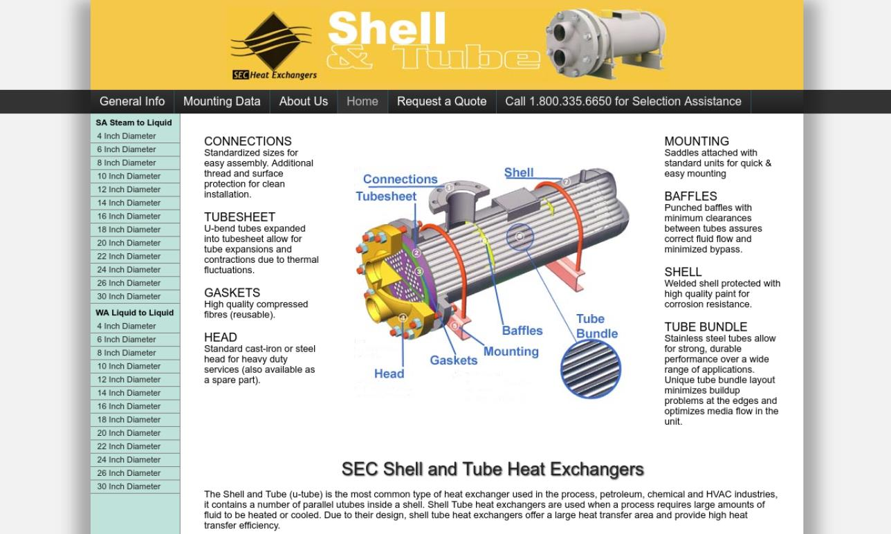 SEC Heat Exchangers
