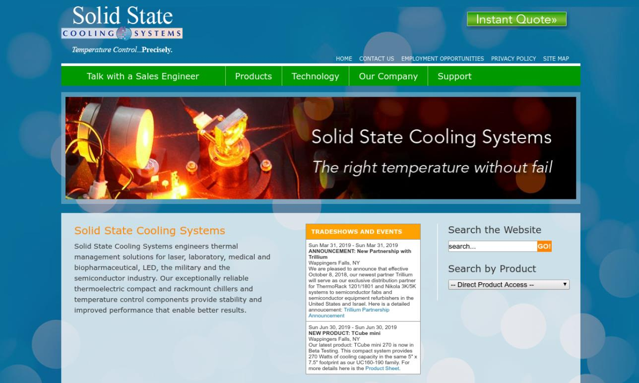 Solid State Cooling Systems
