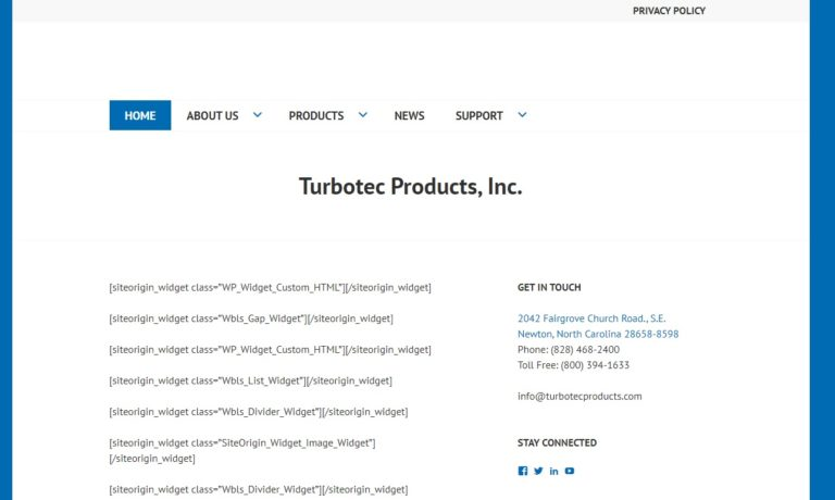 Turbotec® Products, Inc.